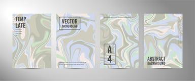 Τέσσερα διανυσματικό αφηρημένο υπόβαθρο A4 Μαρμάρινη σύσταση διανυσματική απεικόνιση