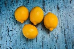 τέσσερα λεμόνια στοκ εικόνες
