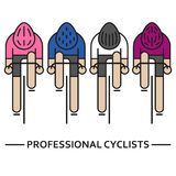 Τέσσερα επίπεδα bicyclists ελεύθερη απεικόνιση δικαιώματος