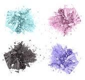Τέσσερα ζωηρόχρωμα καλλυντικά προϊόντα σκιάς ματιών Στοκ φωτογραφία με δικαίωμα ελεύθερης χρήσης