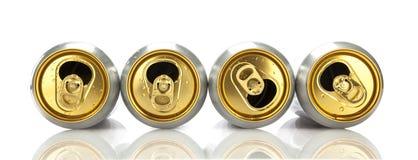 Τέσσερα κενά δοχεία μπύρας Στοκ φωτογραφία με δικαίωμα ελεύθερης χρήσης