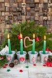 Τέσσερα κεριά εμφάνισης Στοκ φωτογραφία με δικαίωμα ελεύθερης χρήσης