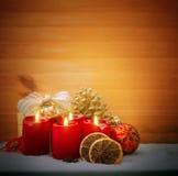 Τέσσερα κεριά εμφάνισης Στοκ φωτογραφίες με δικαίωμα ελεύθερης χρήσης
