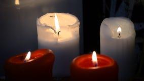 Τα κεριά καίνε απόθεμα βίντεο