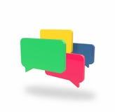 Τέσσερα κιβώτια συνομιλίας ελεύθερη απεικόνιση δικαιώματος