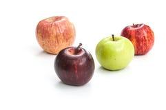 Τέσσερα μήλα χρώματος στοκ εικόνα με δικαίωμα ελεύθερης χρήσης