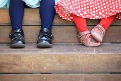 Τέσσερα μικρά πόδια Στοκ Φωτογραφίες