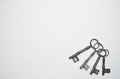 Τέσσερα παλαιά κλειδιά Στοκ Εικόνες