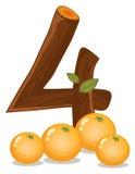 Τέσσερα πορτοκάλια Στοκ Φωτογραφίες