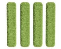 Τέσσερα πράσινα ορθογώνια χλόης Στοκ φωτογραφίες με δικαίωμα ελεύθερης χρήσης
