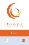 Τέσσερα στοιχείο, κυκλικά εταιρικά λογότυπο/εικονίδιο Στοκ εικόνες με δικαίωμα ελεύθερης χρήσης