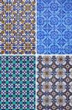 Τέσσερα σχέδια κεραμικών κεραμιδιών Στοκ εικόνα με δικαίωμα ελεύθερης χρήσης