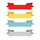 Τέσσερα σχέδια κορδελλών χρώματος Στοκ Εικόνα