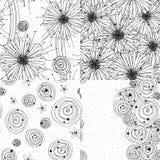 Τέσσερα σχέδια μελανιού Στοκ Εικόνες