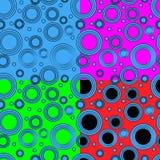 Τέσσερα σχέδια με τους κύκλους Στοκ φωτογραφία με δικαίωμα ελεύθερης χρήσης