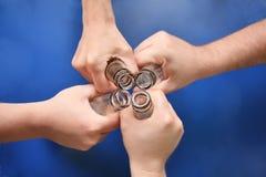 τέσσερα χέρια Στοκ Φωτογραφίες
