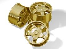 τέσσερα χρυσά πλαίσια Στοκ Εικόνες