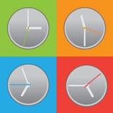 Τέσσερα χρωματισμένο ρολόι Στοκ εικόνες με δικαίωμα ελεύθερης χρήσης