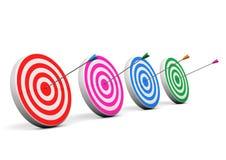 Τέσσερα Bullseyes Στοκ εικόνα με δικαίωμα ελεύθερης χρήσης