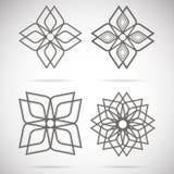 Τέσσερα calligraphical αστέρια Στοκ Εικόνες