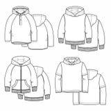 Τέσσερα hoodies Στοκ εικόνες με δικαίωμα ελεύθερης χρήσης