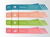 Τέσσερα infographic επιχειρησιακά στοιχεία βημάτων, διανυσματικό eps10 διανυσματική απεικόνιση