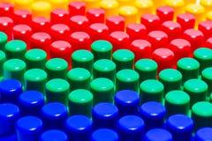 Τέσσερα Lego χωρίζουν σε τετράγωνα Στοκ Εικόνες