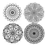 τέσσερα mandalas Στοκ εικόνα με δικαίωμα ελεύθερης χρήσης