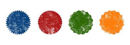 Τέσσερις αναδρομικές μορφές γραμματοσήμων διακριτικών σφραγίδων grunge Στοκ Φωτογραφία
