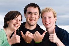 τέσσερις αντίχειρες Στοκ Φωτογραφία