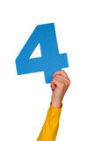 τέσσερις αριθμός Στοκ εικόνα με δικαίωμα ελεύθερης χρήσης