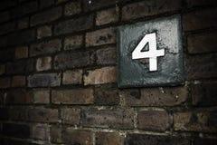 τέσσερις αριθμός Στοκ Εικόνα