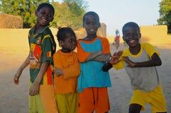 Τέσσερις αφρικανικοί φίλοι Στοκ Εικόνες