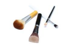 Τέσσερις βούρτσες makeup που απομονώνονται στο άσπρο υπόβαθρο στοκ φωτογραφία με δικαίωμα ελεύθερης χρήσης