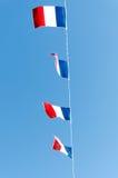 Τέσσερις γαλλικές σημαίες Στοκ Εικόνες