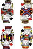 Τέσσερις γρύλοι καμία κάρτα διανυσματική απεικόνιση
