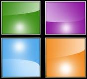 Τέσσερις διαφορετικές χρωματισμένες ανασκοπήσεις Στοκ εικόνες με δικαίωμα ελεύθερης χρήσης