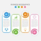 Τέσσερις επιλογές infographic, επιχειρησιακή έννοια Στοκ Εικόνες