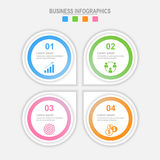 Τέσσερις επιλογές infographic, πρότυπο για το σχέδιό σας, διάνυσμα επιχειρησιακής έννοιας Στοκ εικόνες με δικαίωμα ελεύθερης χρήσης
