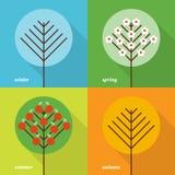 τέσσερις εποχές εικονιδίων Στοκ εικόνες με δικαίωμα ελεύθερης χρήσης