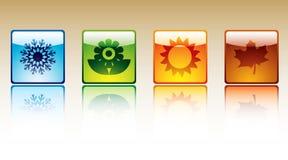 τέσσερις εποχές εικονι&de απεικόνιση αποθεμάτων
