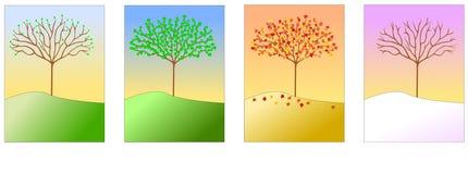 τέσσερις εποχές διανυσματική απεικόνιση