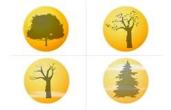 τέσσερις εποχές Στοκ φωτογραφία με δικαίωμα ελεύθερης χρήσης