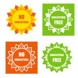 Τέσσερις ελεύθερες ετικέτες χοληστερόλης Στοκ φωτογραφία με δικαίωμα ελεύθερης χρήσης