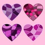 τέσσερις καρδιές Στοκ εικόνες με δικαίωμα ελεύθερης χρήσης
