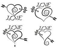 τέσσερις καρδιές Στοκ φωτογραφία με δικαίωμα ελεύθερης χρήσης