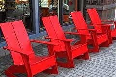 Τέσσερις κόκκινες έδρες Στοκ εικόνα με δικαίωμα ελεύθερης χρήσης