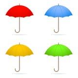 τέσσερις ομπρέλες Στοκ Φωτογραφίες