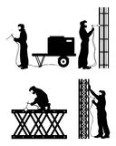 Τέσσερις οξυγονοκολλητές στην εργασία Διανυσματική απεικόνιση