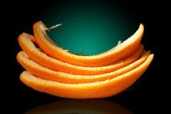 τέσσερις πορτοκαλιές φλούδες Στοκ εικόνα με δικαίωμα ελεύθερης χρήσης